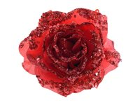 Rose Clip Decoris Rouge Noël 8,5 Cm d'occasion