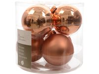 Set Boules De Noël Decoris 'Christmas Decoration' Amande 80 Mm - 6 Pcs d'occasion