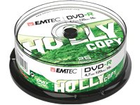 EMTEC Pack 25 DVD-R 4.7 GB 16 X Cakebox (ECOVR472516CB)