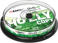 EMTEC Pack 10 DVD-R 4.7 GB 16 X Cakebox (ECOVR471016CB)