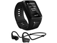 TOMTOM Montre Sport Spark 3 Cardio + Music Noir Small + Casque Bluetooth (1RKM.002.11)