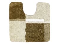 Tapis Wc Cubes 60X60 Cm Taupe