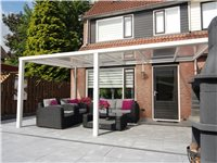 Pergola Patio 5X3 M Wit Helder