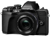 OLYMPUS Appareil Photo Hybride E-M10 Mark III Noir + 14-42 Mm Pancake Noir (V207072BE000)