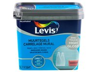 Peinture Levis 'Carrelage Mural' High Gloss Zinc Touch 750Ml