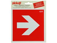 Pictogramme Autocollant Flèche De Direction 90° 15X15 Cm Rouge