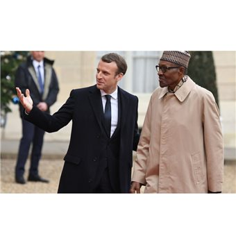 Emmanuel Macron: heading for Nigeria