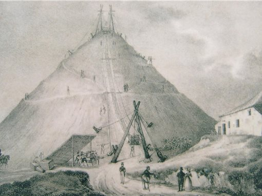 Comment fut construite la Butte du Lion ?memorial 1815
